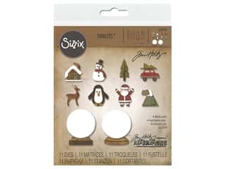 Sizzix Tim Holtz Thinlits Die Set 11 pc. Tiny Snowglobes