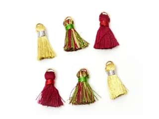 scrapbooking & paper crafts: Jesse James Embellishments Tassels Medium Burgundy & Hunter