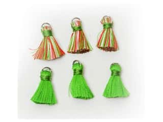 scrapbooking & paper crafts: Jesse James Embellishments Tassels Medium Red, Green, White