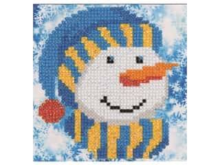 craft & hobbies: Diamond Dotz Mini Pillow Kit - Snowman Cap