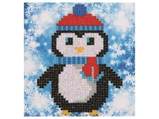 beading & jewelry making supplies: Diamond Dotz Mini Pillow Kit - Christmas Penguin
