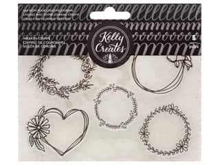 scrapbooking & paper crafts: American Crafts Collection Kelly Creates Stamp Wreaths