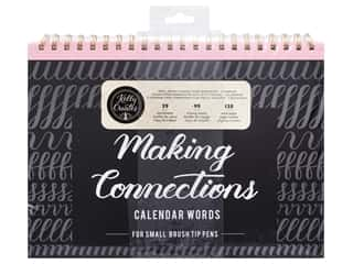 Clearance: American Crafts Collection Kelly Creates Workbook Making Connections Calendar Words For Small Pen