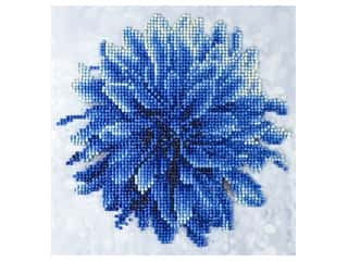 beading & jewelry making supplies: Diamond Art Kit 8 x 8 in. Blue Dahlia