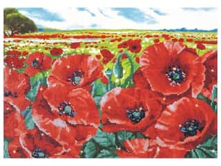 craft & hobbies: Diamond Dotz Intermediate Kit - Red Poppy Field