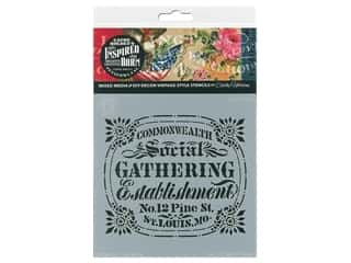 craft & hobbies: Cathe Holden Inspired Barn Stencil 6 x 6 in. Gathering