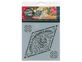 craft & hobbies: Cathe Holden Inspired Barn Stencil 6 x 6 in. Flourish