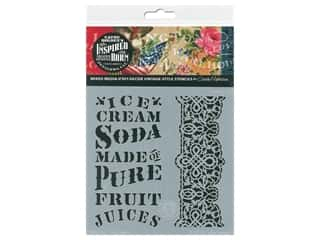 Cathe Holden Inspired Barn Stencil 6 x 6 in. Ice Cream