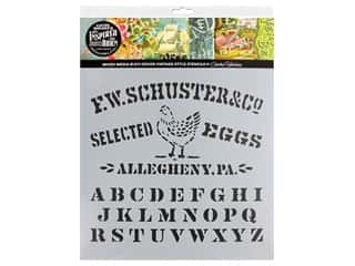 Cathe Holden Stencil Inspired Barn 12 in. Eggs