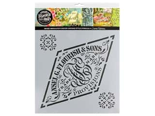craft & hobbies: Cathe Holden Inspired Barn Stencil 12 x 12 in. Flourish