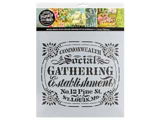 craft & hobbies: Cathe Holden Inspired Barn Stencil 12 x 12 in. Gathering