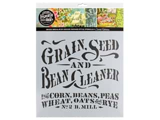 Cathe Holden Inspired Barn Stencil 12 x 12 in. Grain