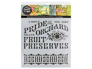 craft & hobbies: Cathe Holden Inspired Barn Stencil 12 x 12 in. Orchard