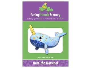 Funky Friends Factory Nate The Narwhal Pattern