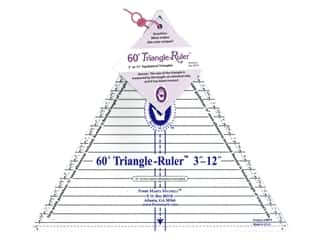 Marti Michell 60-degree Triangle Ruler - 3 to 12 in. finished