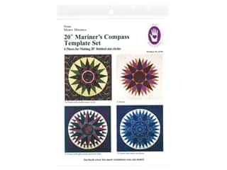 books & patterns: Marti Michell Mariner's Compass Template Set - 20 in.