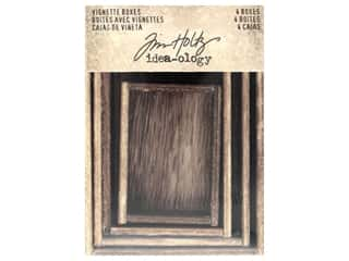 craft & hobbies: Tim Holtz Idea-ology Vignette Boxes Brown