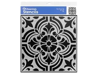 craft & hobbies: PA Essentials Stencil 12 x 12 in. Fleur De Lis Tile
