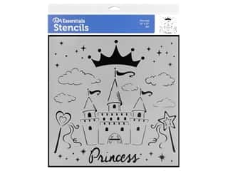 craft & hobbies: PA Essentials Stencil 12 x 12 in. Princess