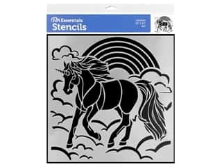 craft & hobbies: PA Essentials Stencil 12 x 12 in. Unicorn