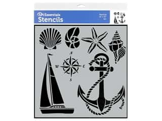 craft & hobbies: PA Essentials Stencil 12 x 12 in. Nautical