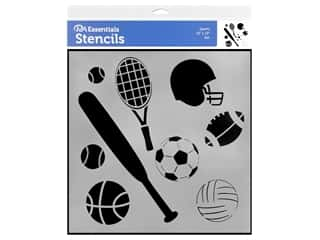 craft & hobbies: PA Essentials Stencil 12 x 12 in. Sports