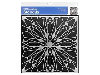 craft & hobbies: PA Essentials Stencil 12 x 12 in. Kaleidoscope