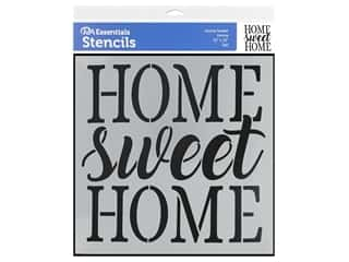 craft & hobbies: PA Essentials Stencil 12 x 12 in. Home Sweet Home