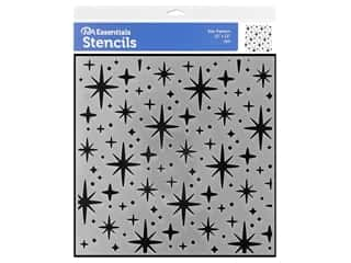 craft & hobbies: PA Essentials Stencil 12 x 12 in. Star Pattern
