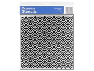 craft & hobbies: PA Essentials Stencil 12 x 12 in. Scallop Pattern