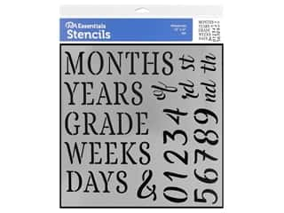 PA Essentials Stencil 12 x 12 in. Milestones