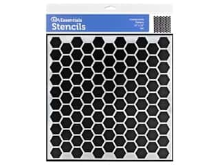 craft & hobbies: PA Essentials Stencil 12 x 12 in. Honeycomb Pattern