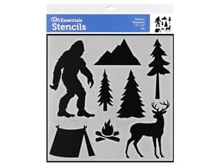 craft & hobbies: PA Essentials Stencil 12 x 12 in. Bigfoot/Sasquatch
