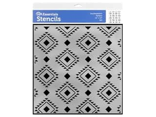 craft & hobbies: PA Essentials Stencil 12 x 12 in. Southwestern Pattern
