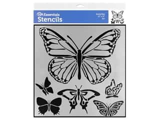 craft & hobbies: PA Essentials Stencil 12 x 12 in. Butterflies