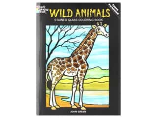 books & patterns: Dover Publications Wild Animals Stained Glass Coloring Book