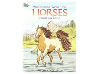 books & patterns: Dover Publications Wonderful World Of Horses Coloring Book