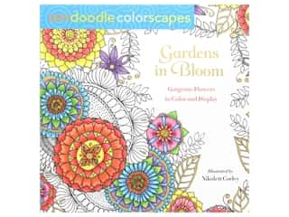 books & patterns: St Martin's Griffin Zendoodle Gardens In Bloom Coloring Book