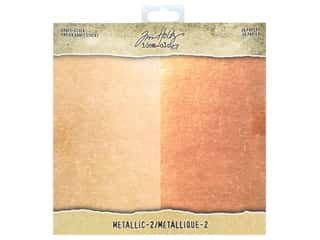 Tim Holtz Metallic Mixative: Tim Holtz Idea-ology Paper Stash 8 in. x 8 in. Metallic 2