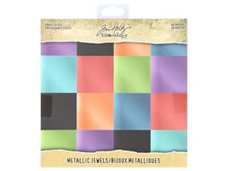 scrapbooking & paper crafts: Tim Holtz Idea-ology Paper Stash 8 in. x 8 in. Metallic Jewels