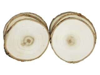 Sierra Pacific Crafts Wood Slice Round 4.5 in. Natural