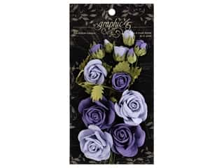 leaves: Graphic 45 Staples Rose Bouquet Staples Lilac/Royal Purple