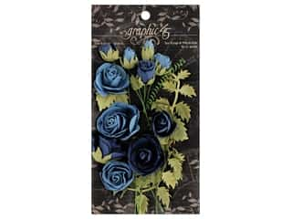Graphic 45 Staples Rose Bouquet Bon Voyage/French Blue