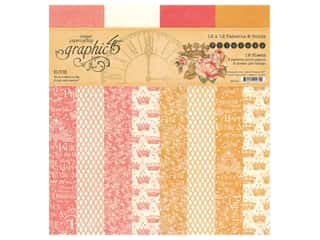 scrapbooking & paper crafts: Graphic 45 Collection Princess Paper Pad 12 in. x 12 in. Solid/Patterns