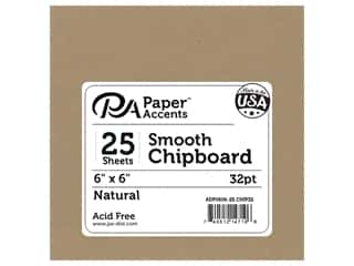 Paper Accents Chipboard 6 x 6 in. 32 pt. XL Heavy Natural 25 pc.