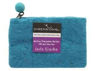 yarn: Dimensions 100% Wool Blanks Mini Purse Aqua