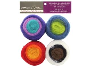yarn & needlework: Dimensions 100% Wool Roving Rolls Multi