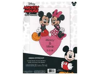 yarn & needlework: Dimensions Counted Cross Stitch Kit 8 x 10 in. Disney's Mickey and Minnie Wedding Record
