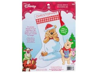 yarn & needlework: Dimensions Counted Cross Stitch Kit Winnie the Pooh Stocking