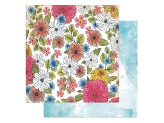 American Crafts Collection Vicki Boutin Field Notes Paper 12 in. x 12 in. Among The Wildflowers (25 pieces)